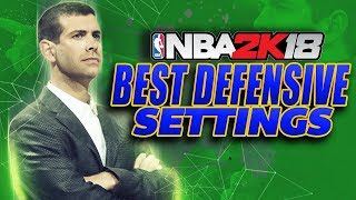 NBA 2K18 Defensive Settings Tips & Tutorial!