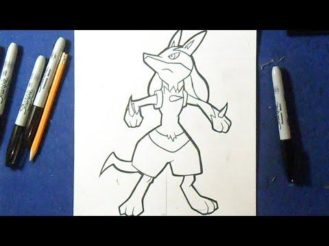 Cómo dibujar a Lucario \