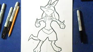 "Cómo dibujar a Lucario ""Pokémon"" 