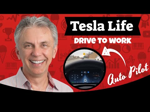 Nick's Tesla - My Drive to Work using Auto Pilot