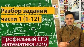 Профильный ЕГЭ математика 2019 часть 1