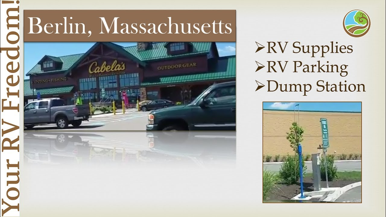 Cabelas 2017, Berlin Ma, RV Parking, Dump Station