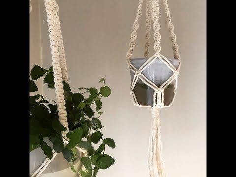 macrame-plant-hanger-|-tutorial-|-beginner-|-square-knot-|-twisting-knot
