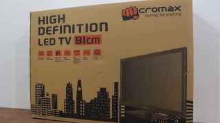 Micromax 32 inch LED TV 32B200HD UNBOXING