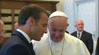 Francisco recibió a Macron en medio de las tensiones entre Francia e Italia por los inmigrantes