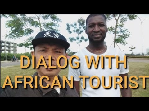 DIALOG WITH AFRICAN TOURIST