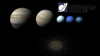 What If All The Gas Giants Were In The Asteroid Belt, Universe Sandbox ²