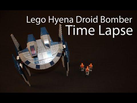 Lego Star Wars Hyena Droid Bomber Time Lapse Youtube