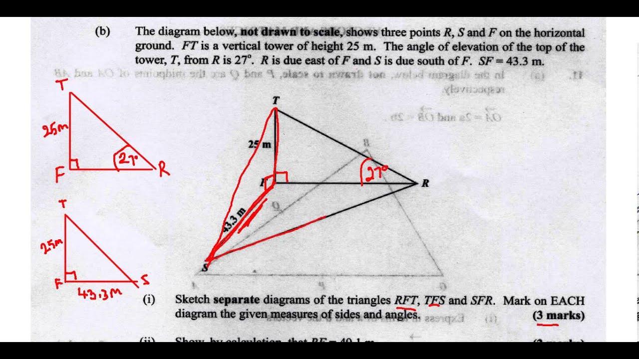 CSEC CXC Maths Past Paper 2 Question 10b May 2013 Exam Solutions ACT Math,  SAT Math,