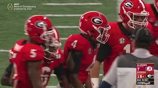 Mecole Hardman 80 Yard TD Catch vs. Alabama | 2018 CFB National Championship Highlights thumbnail