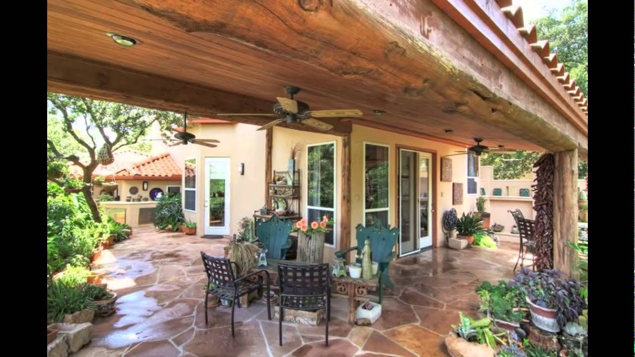 free standing patio cover - YouTube