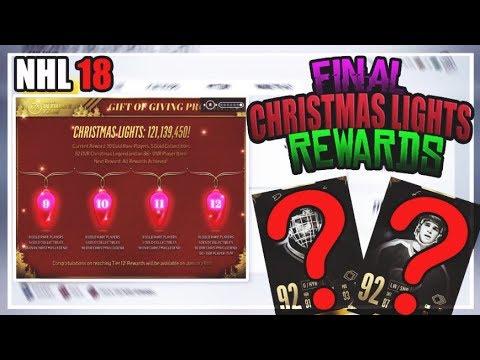 NHL 18 HUT- CHRISTMAS LIGHTS COMMUNITY CHALLENGE FINAL REWARDS
