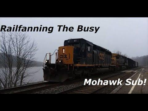 Morning Railfanning On The CSX Mohawk Sub In Amsterdam, NY 4-6-18
