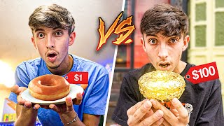 $1 Dollar Donut vs $1000 24K GOLD Donut!! **insane**