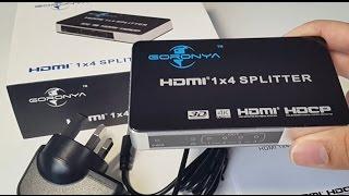 The Best 4 Port HDMI Splitter by Goronya