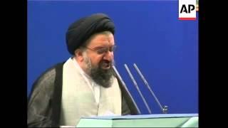 Ahmed Khatami criticises Clinton at Friday prayers