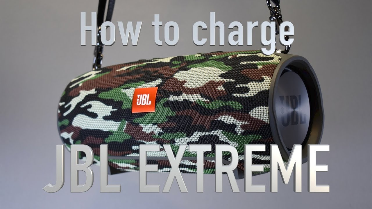 How to charge JBL Extreme