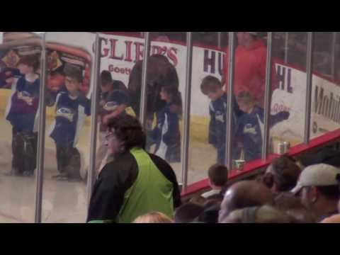 Cincinnati Storm Mites Team Luongo Intro at Cyclones Game October 2016