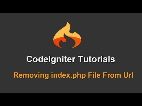 5 - Codeigniter Tutorials - Removing Index.php From Url