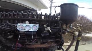 1951 Buick Straight Eight running on stand