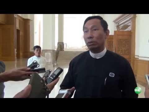U Shwe Mann meets with reporters