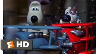 Wallace & Gromit: The Curse of the Were-Rabbit (2005) - Dogfight Scene (9/10)   Movieclips