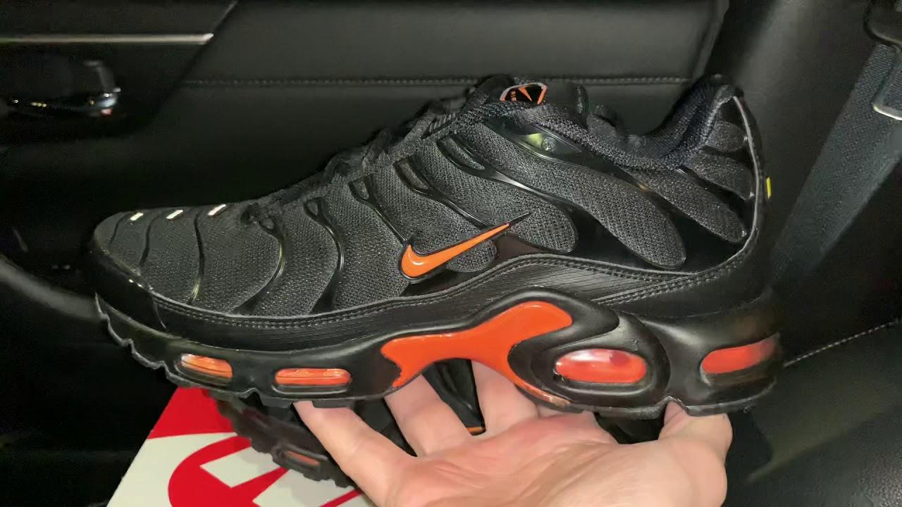 Nike Air Max Plus Black Orange Shoes Youtube