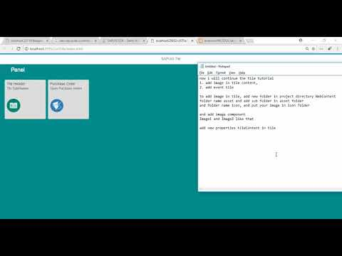 Add Tile Icon and Event Click sapui5 - YouTube