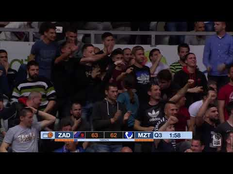 Petar Marić hits the 3-pointer at the buzzer (Zadar - MZT Skopje Aerodrom, 30.4.2019)