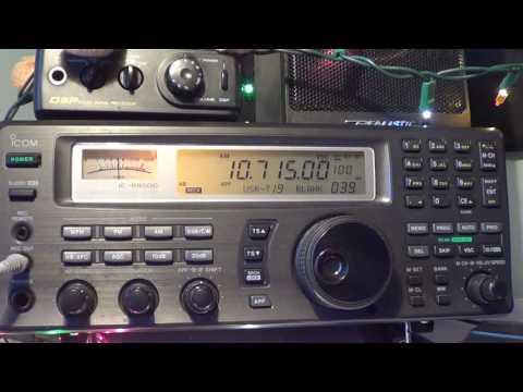 Noisy HM01 Cuban numbers 10715 Khz Shortwave