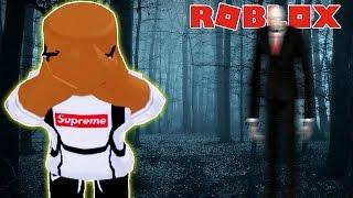 RUNNING FROM SLENDERMAN IN ROBLOX