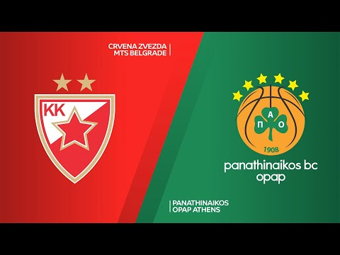 Crvena Zvezda mts Belgrade - Panathinaikos OPAP Athens Highlights | EuroLeague, RS Round 17