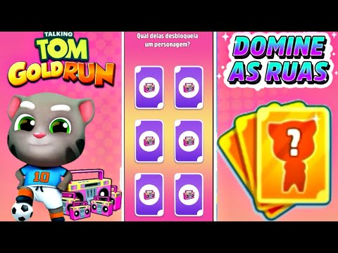 talking-tom-gold-run-novo-evento-domine-as-ruas-x5-cartas-da-sorte-desbloqueado-tom-craque-gameplay