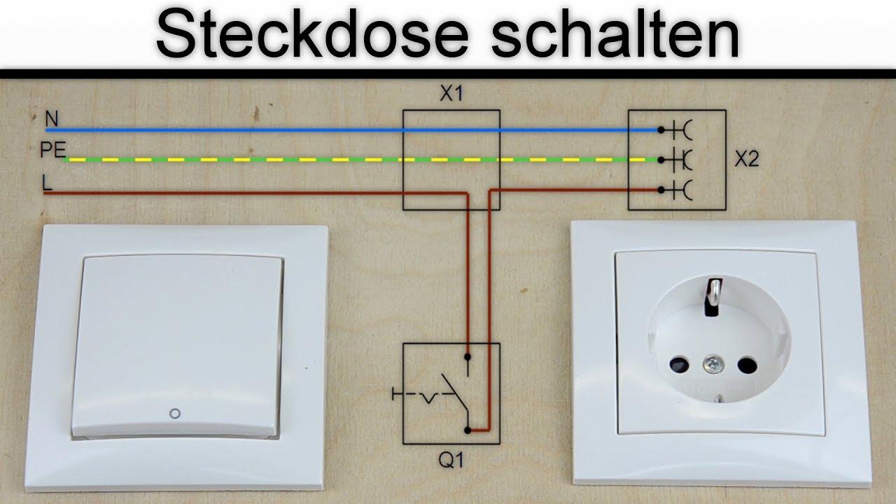 Großzügig Steckdose Zum Licht Schalten Zeitgenössisch - Elektrische ...