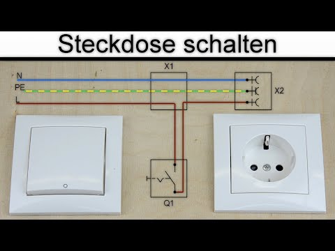Sehr Steckdose schalten - Steckdose an Schalter anschließen - (ohne AY49