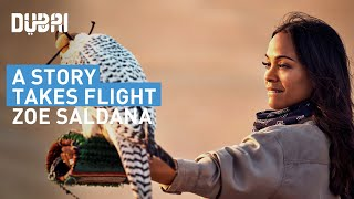 Watch Zoe Saldana's journey through #Dubai at www.astorytakesflight.com