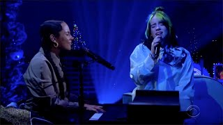 Billie Eilish ft. Alicia Keys - Ocean Eyes - Live on The Late Late Show