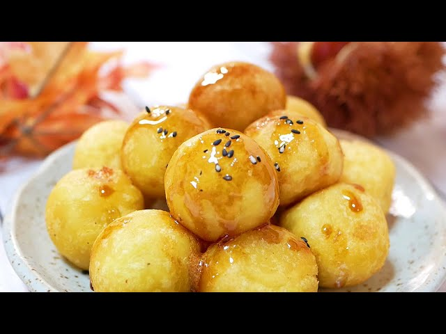スイートポテトもちの作り方 How to make Fried sweet potato