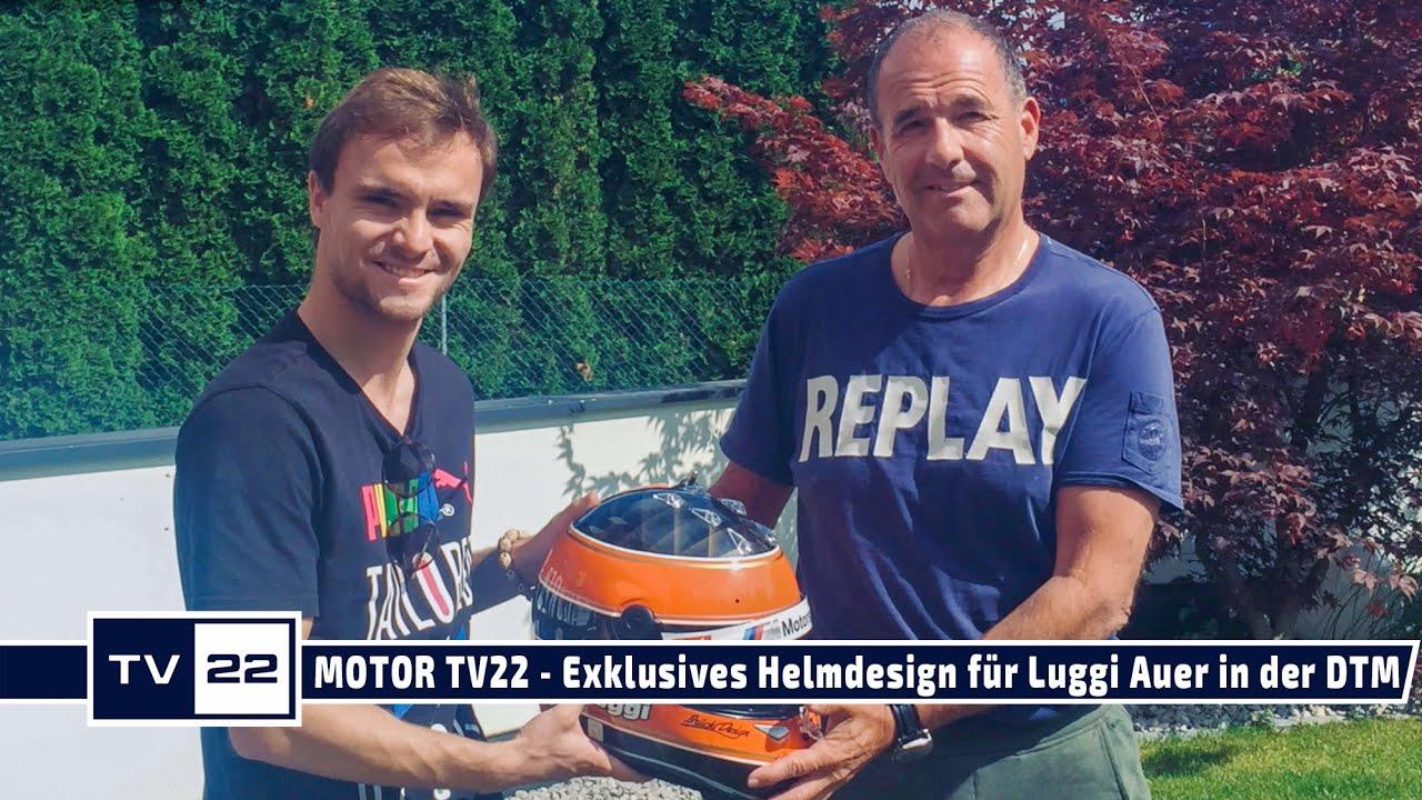 MOTOR TV22: Exklusives Helmdesign für DTM Pilot Luggi Auer