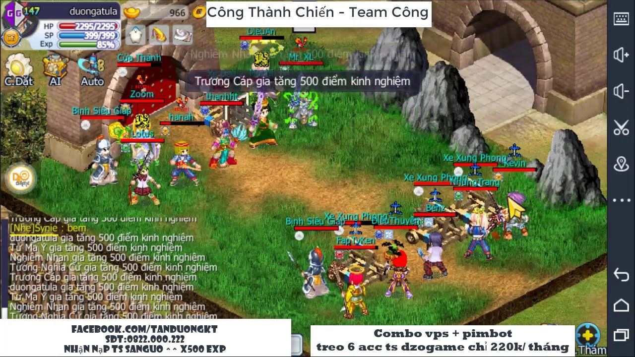 Khi team top đi công thành – Server tào tháo   TS Online Mobile