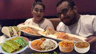 Crunchy Chicken Tacos MUKBANG | Mexican Food | Enchiladas | Chile Rellenos | Rice & Beans