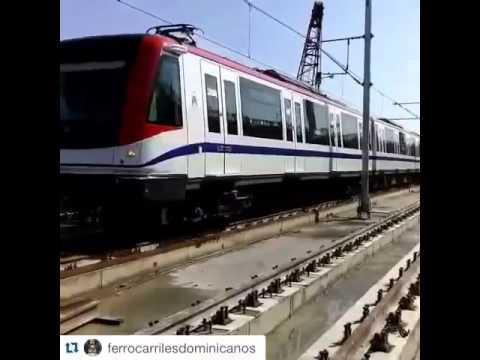 Primera prueba de trenes sobre la línea 2B - Metro de Santo Domingo