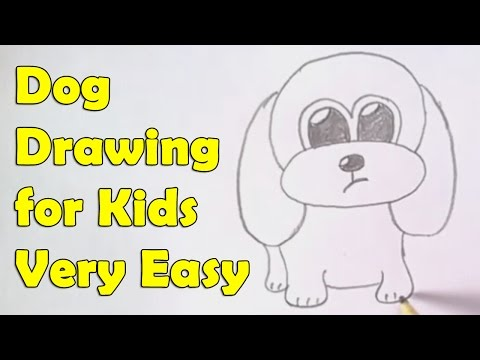 How To Draw Dog For Kids