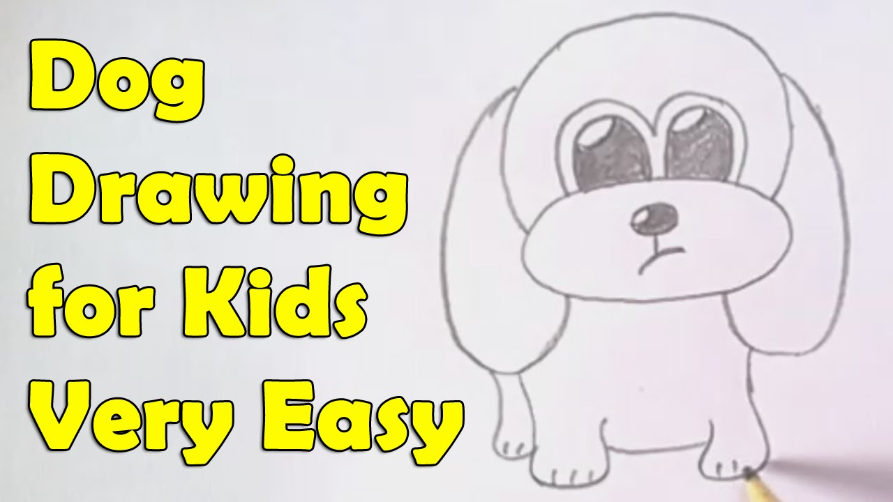 how to draw a dog for kids youtube - Small Drawings For Kids