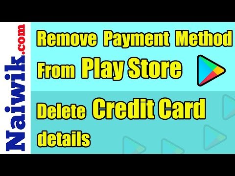How To Remove Payment Method On Google Play Store | Delete Credit Card Details