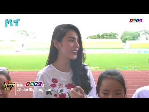 Thủy Tiên năn nỉ Công Vinh dẫn thí sinh Ai Sẽ Thành Sao Nhí thăm sân vận động Thống Nhất