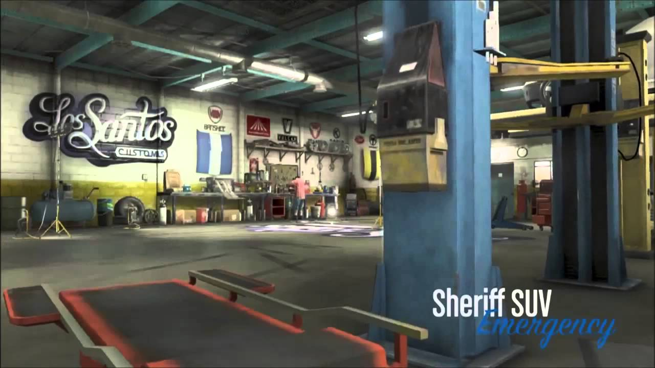 Remove Spray Paint From Car >> GTA 5 How To Put A Police Car in Your Garage - Grand Theft ...