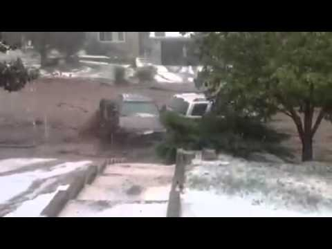 BREAKING WEATHER ALERT: This is video from just a short time ago on Stoneridge Drive off