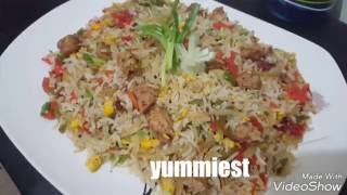 Chinese fried rice Original Pakistani restaurant recipe by (YES I CAN COOK) WITH ENG SUBTITLES