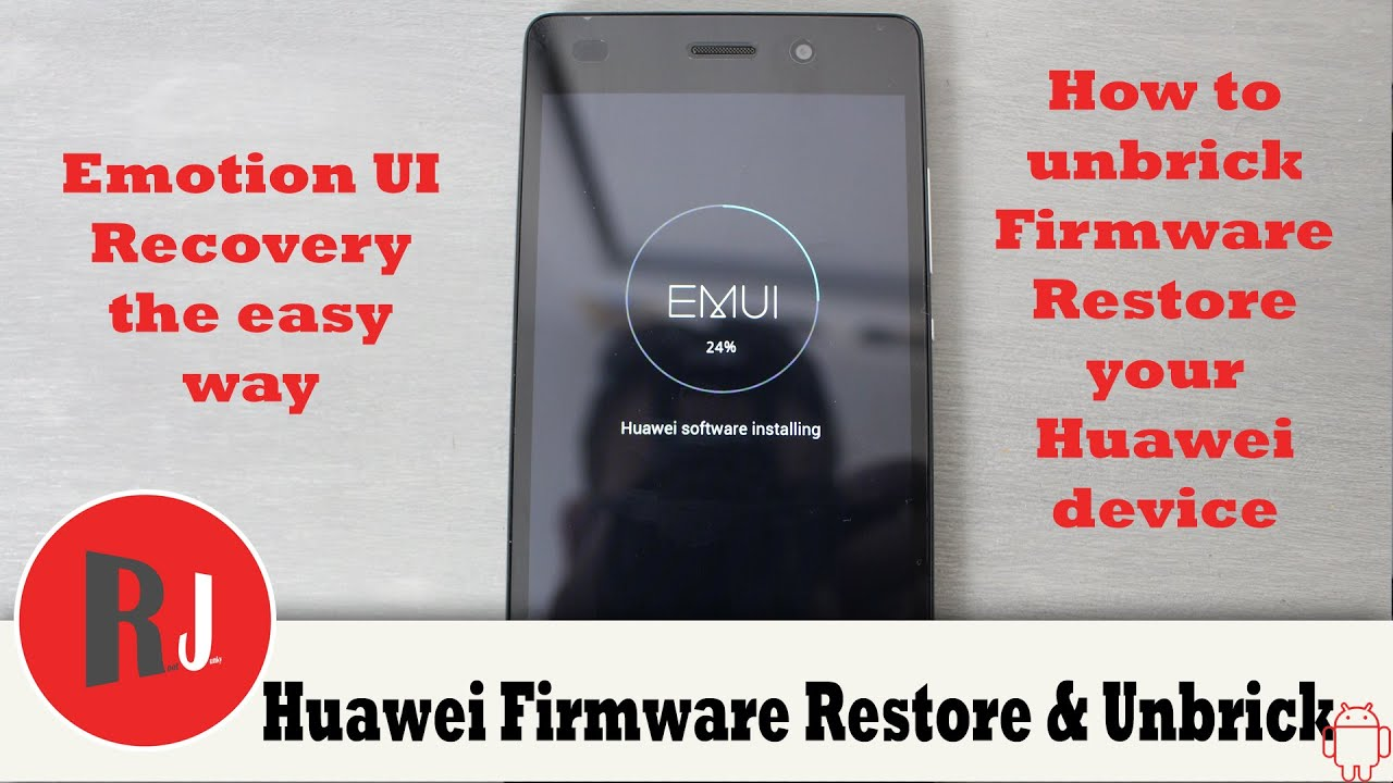 How to Unbrick Firmware Restore your Huawei Device running EMUI P8 Lite